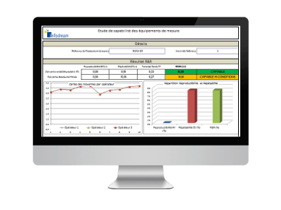 gauge r&r software, reporting view