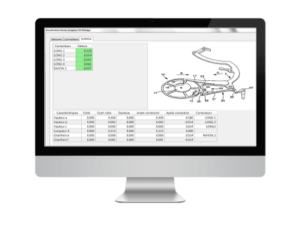 pilotage steering matrix software, correctors view
