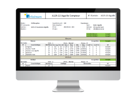 Ctrl Vision, Incoming Quality Control software in order to accept or refuse supplier batches.