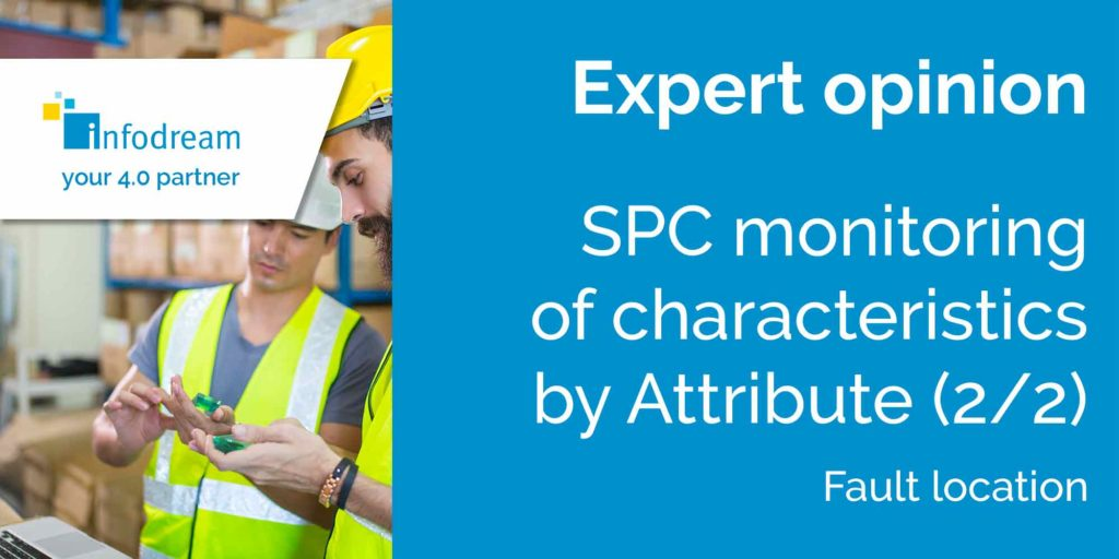 SPC monitoring of characteristics by attribute and fault location