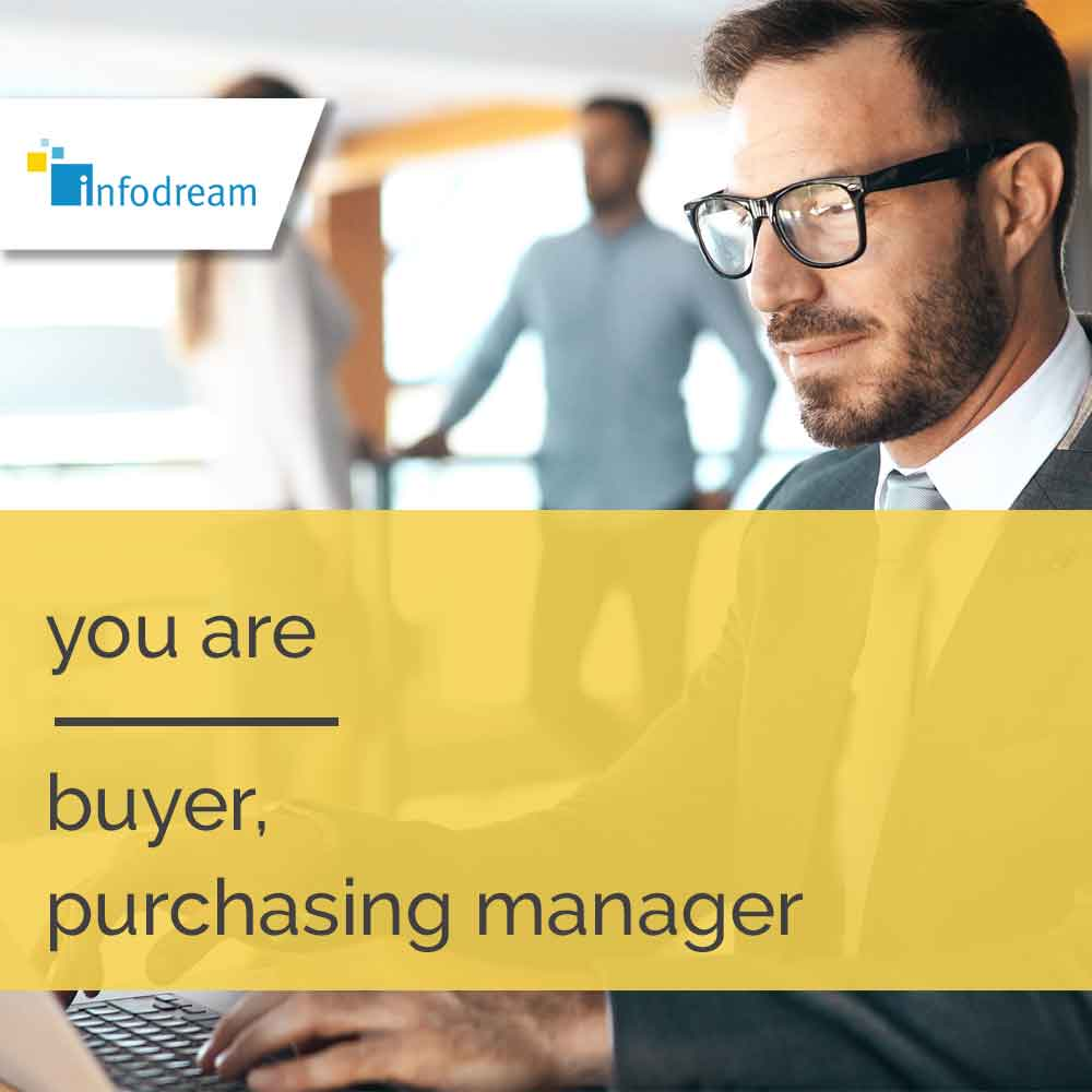 Qualaxy, infodream's MES software for buyers, purchasing departments, purchasing managers, etc.