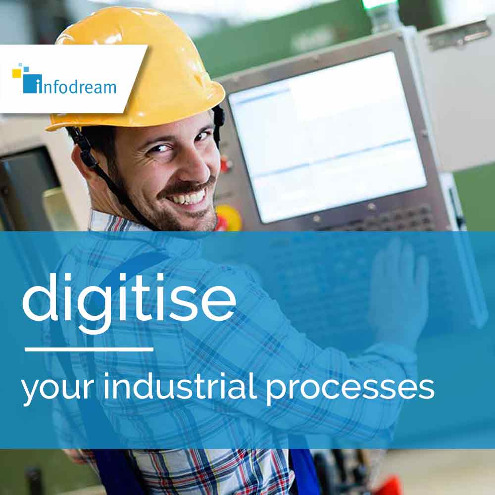 Infodream, an expert in industrial process control and publisher of Qualaxy, the MES (Manufacturing Execution System) software suite for industrial excellence, supports you in the digitisation of your industrial processes.