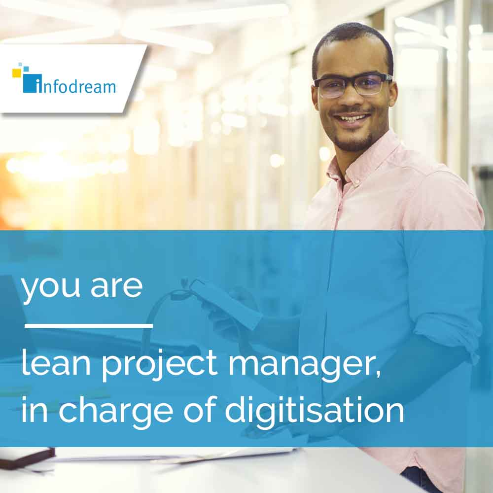 Qualaxy, infodream's MES software for lean project managers and digitalisation managers