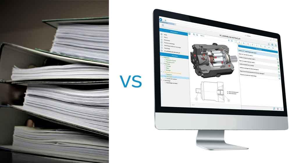 paperwork vs paperless workshop
