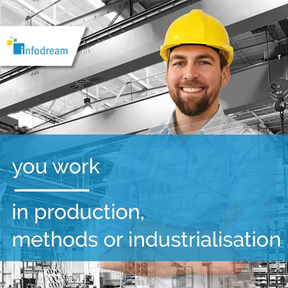 Qualaxy, infodream's MES software for production professions: production manager, methods manager, industrialisation manager, etc.