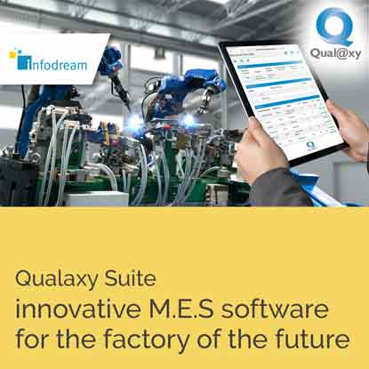 Infodream, your partner for Industry 4.0, expert in industrial process control, is the publisher and integrator of Qualaxy, the Manufacturing Execution System (MES) software suite for industrial excellence and the factory of the future. Infodream's 4.0 solutions are designed to meet your challenges and constraints.