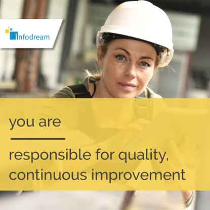 Qualaxy, infodream's MES software for quality managers, responsible for continuous improvement