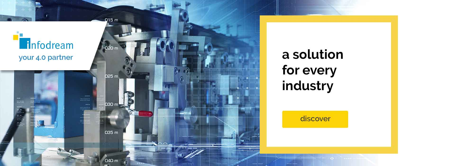 Infodream offers parameterisable MES software for every industry: aerospace, automotive, watchmaking, life sciences, medical, pharmaceutical, electronics and defence, etc.